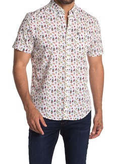 Original Penguin Short Sleeve Fruit Print Trim Fit Woven Shirt
