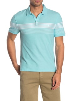Original Penguin Heathered Engineered Striped Polo Shirt