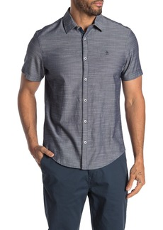 Original Penguin Short Sleeve Herrinbone Slub Shirt