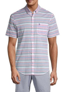 Original Penguin Short-Sleeve Horizontal Stripe Shirt