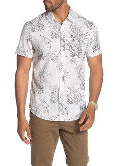 Original Penguin Short Sleeve Island Paradise Print Slim Fit Shirt