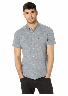 Original Penguin Short Sleeve Knitted Three-Color Feeder Stripe Shirt