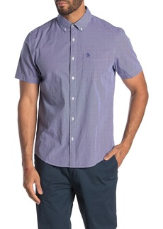Original Penguin Short Sleeve Micro Gingham Shirt