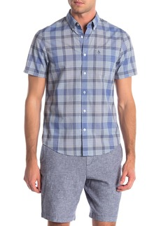 Original Penguin Mini Plaid Slim Fit Woven Shirt