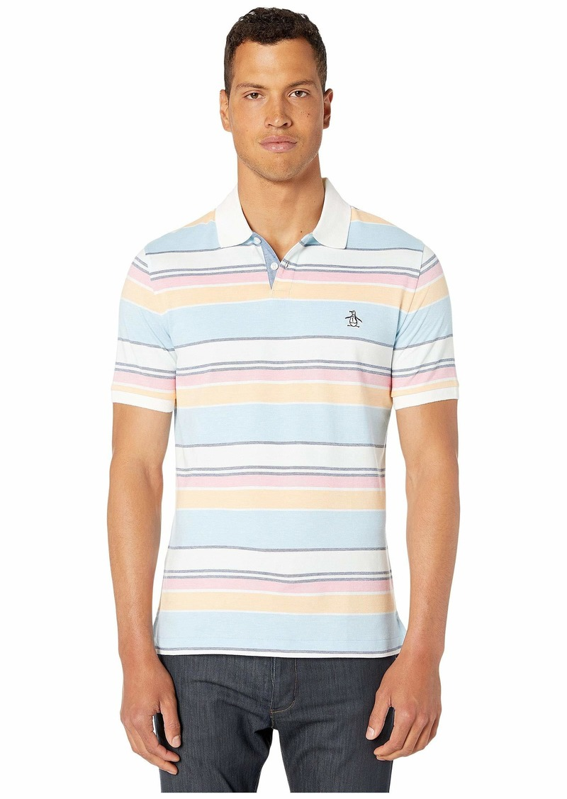 Original Penguin Short Sleeve Multi Stripe Polo