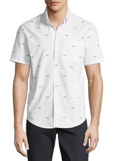 Original Penguin Short-Sleeve Oxford Argyle Sport Shirt
