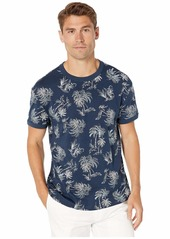 Original Penguin Short Sleeve Palm Print Ringer T-Shirt
