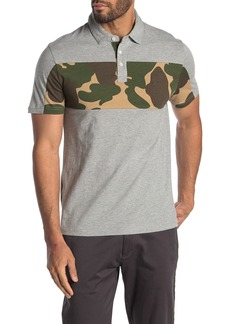Original Penguin Short Sleeve Printed Chest Block Polo