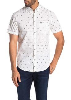 Original Penguin Short Sleeve Printed Slim Fit Shirt