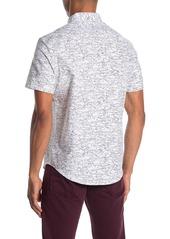 Original Penguin Short Sleeve Slim Fit Shark Print Shirt