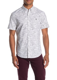 Original Penguin Short Sleeve Slim Fit Shark Print Shirt