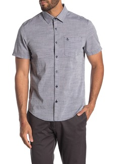Original Penguin Short Sleeve Slub Horizontal Shirt