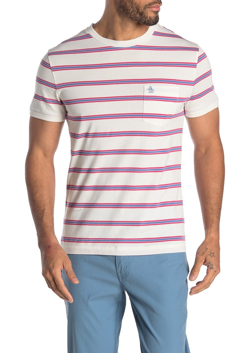 Original Penguin Short Sleeve Sock Striped T-Shirt