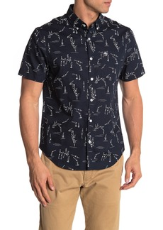 Original Penguin Short Sleeve Swim Print Trim Fit Shirt
