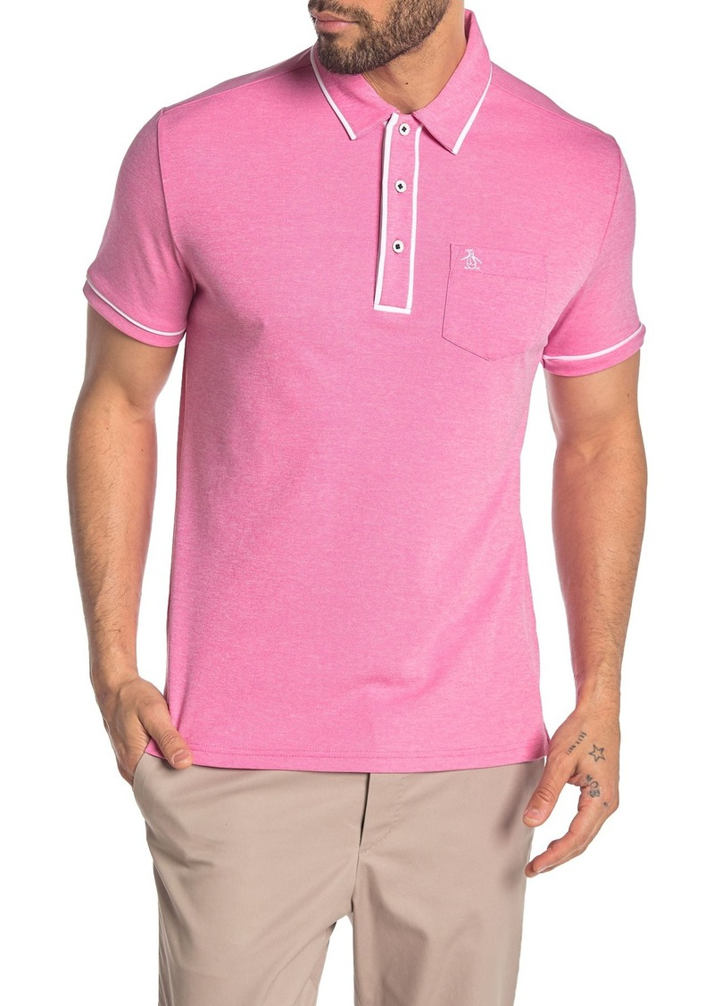Original Penguin Short Sleeve Texture Oxford Polo