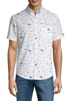 Original Penguin Slim-Fit Paintbrush Button-Down Shirt