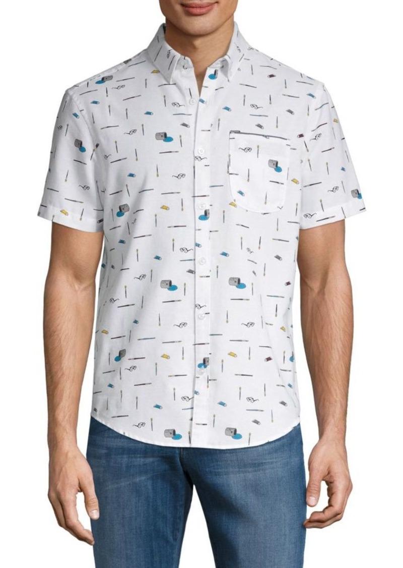 Original Penguin Slim-Fit Paintbrush Button-Down Shirt