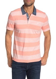Original Penguin Slub Auto Stripe Polo