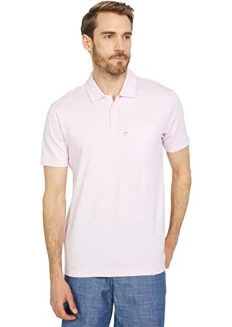 Original Penguin Slub Feeder Stripe Pocket Short Sleeve Polo Shirt