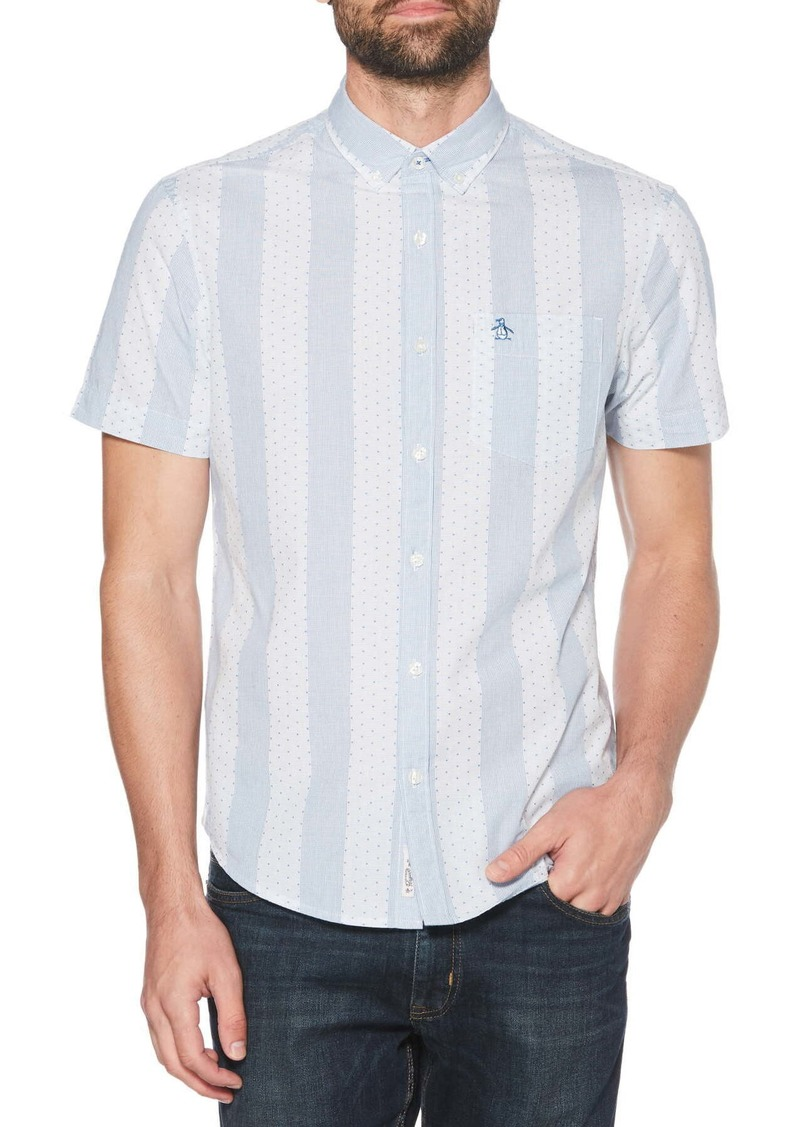 Original Penguin Square Dobby Stripe Shirt