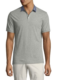 Original Penguin Star-Print Chambray Trim Jersey Polo