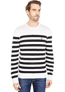 Original Penguin Stripe Crew Sweater