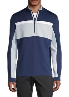 Original Penguin Stripe Quarter-Zip Golf Pullover