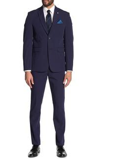 Original Penguin Stripe Textured Skinny Fit 2-Piece Suit