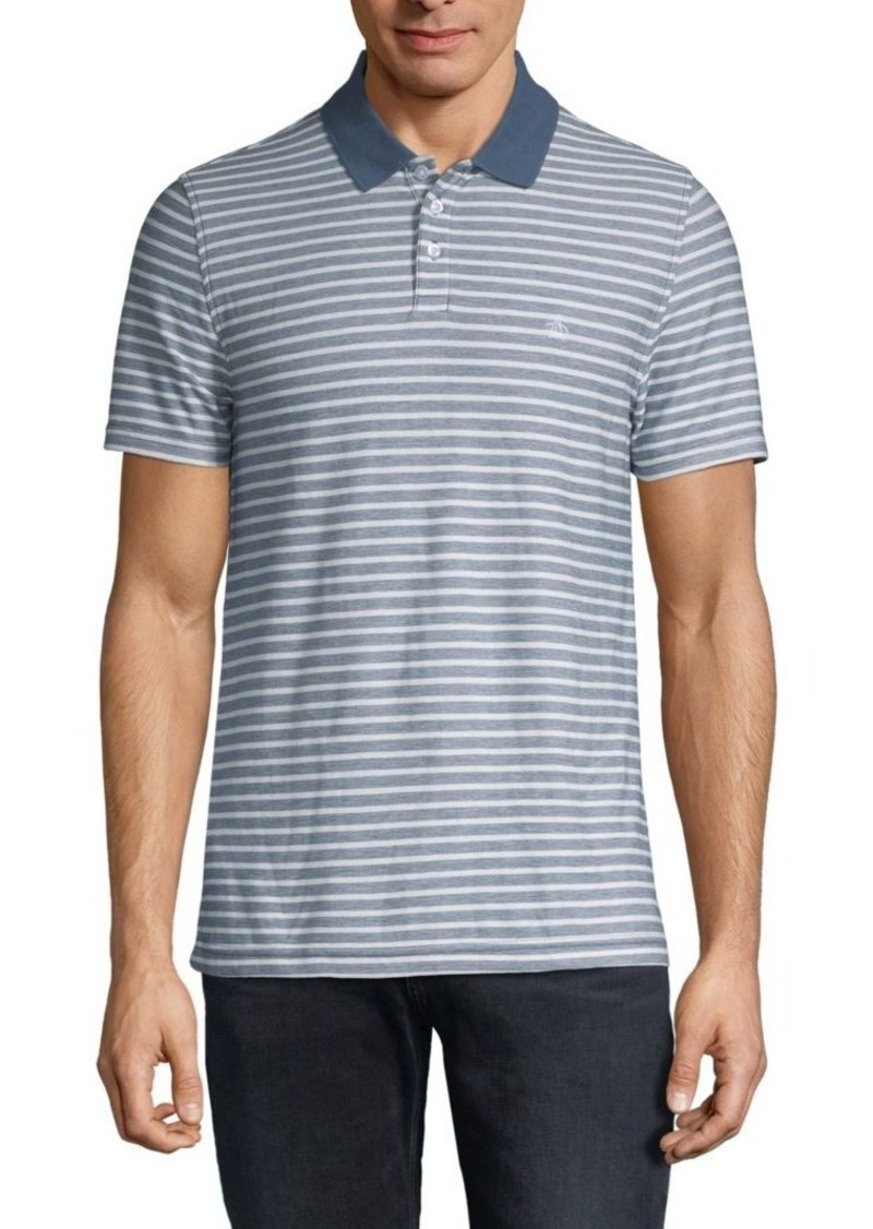 Original Penguin Striped Short-Sleeve Polo
