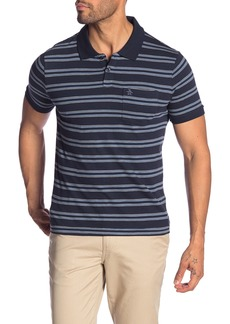 Original Penguin Striped Slub Heritage Slim Fit Polo