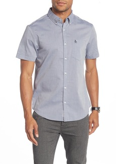 Original Penguin Textured Geo Short Sleeve Heritage Slim Fit Shirt