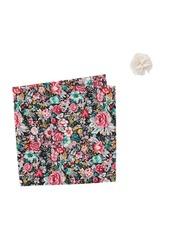 Original Penguin Tibbitt Floral Lapel Pin & Pocket Square Set
