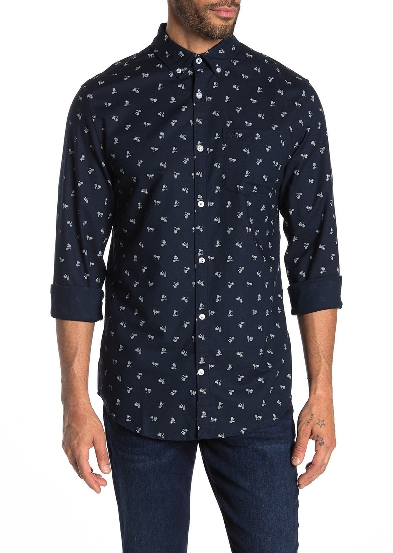 Original Penguin Tossed Bike Printed Slim Fit Shirt