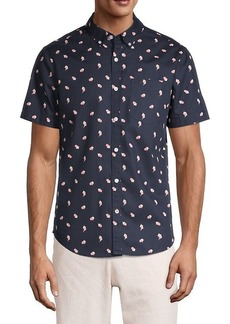 Original Penguin Tossed Popcorn-Print Short-Sleeve Shirt