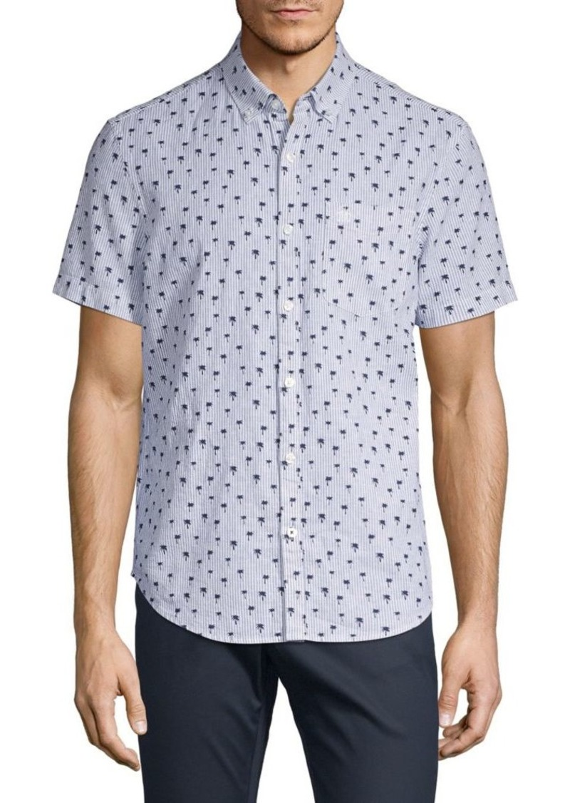 Original Penguin Tree-Print Short-Sleeve Shirt