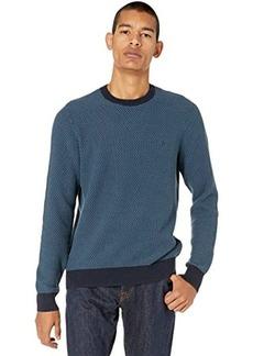 Original Penguin Tri-Tone Popcorn Crew Neck Sweater