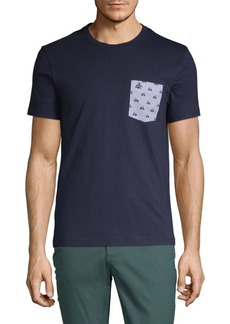 Original Penguin Vespa Print Pocket Tee