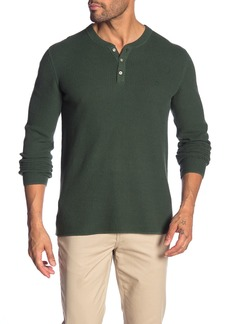 Original Penguin Waffle Knit Long Sleeve Henley