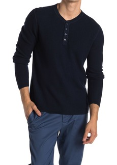 Original Penguin Waffle Knit Long Sleeve Henley Shirt