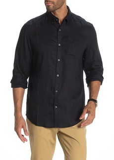 Original Penguin Washed Linen Classic Slim Fit Shirt