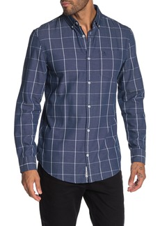 Original Penguin Windowpane Print Slim Fit Shirt