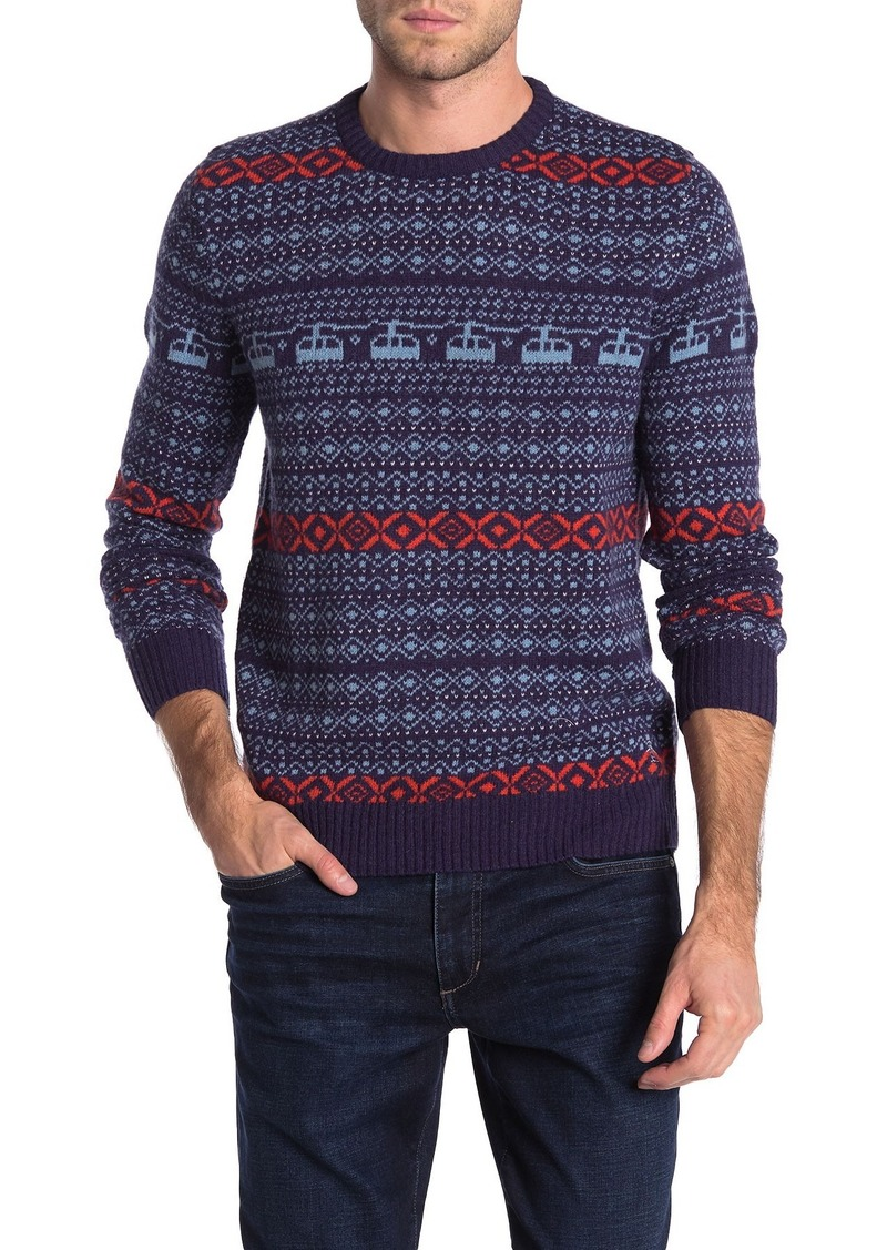 Original Penguin Wool Blend Holiday Fairisle Sweater