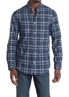 Original Penguin Woven Long Sleeve Windowpane Shirt