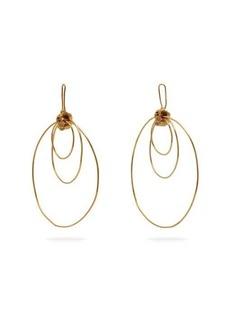 Orit Elhanati Alice gold-plated hoop-drop earrings