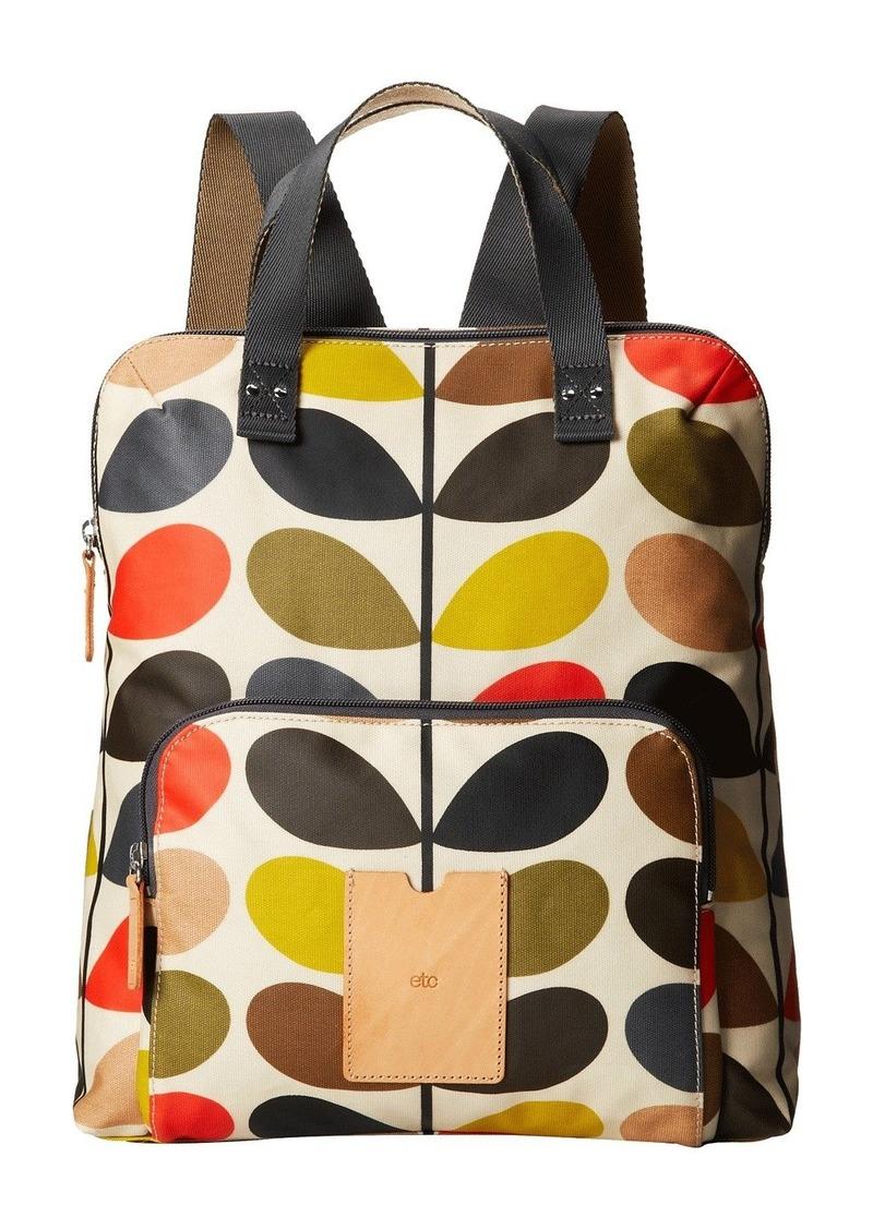Orla Kiely Matt Laminated Classic Multi Stem Backpack Tote  709516e966568