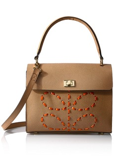 Orla Kiely Laced Stem Leather Cicely Bag