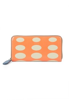 Orla Kiely Ovla Printed Leather Zip-Around Wallet