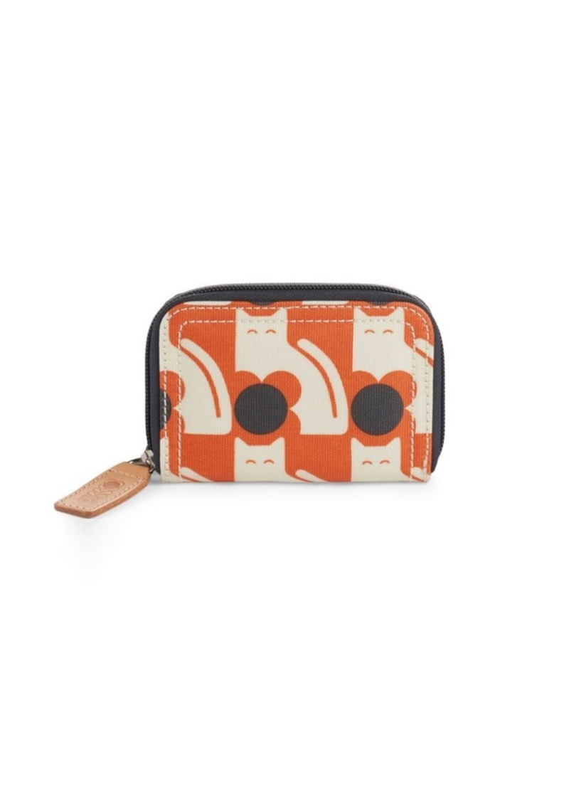 ORLA KIELY Poppy Cat-Print Zipped Wallet