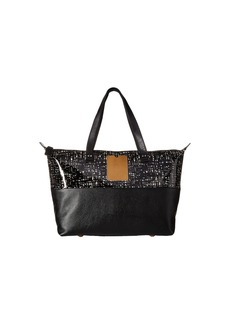 Orla Kiely Texture Stem Leather Zip Shopper