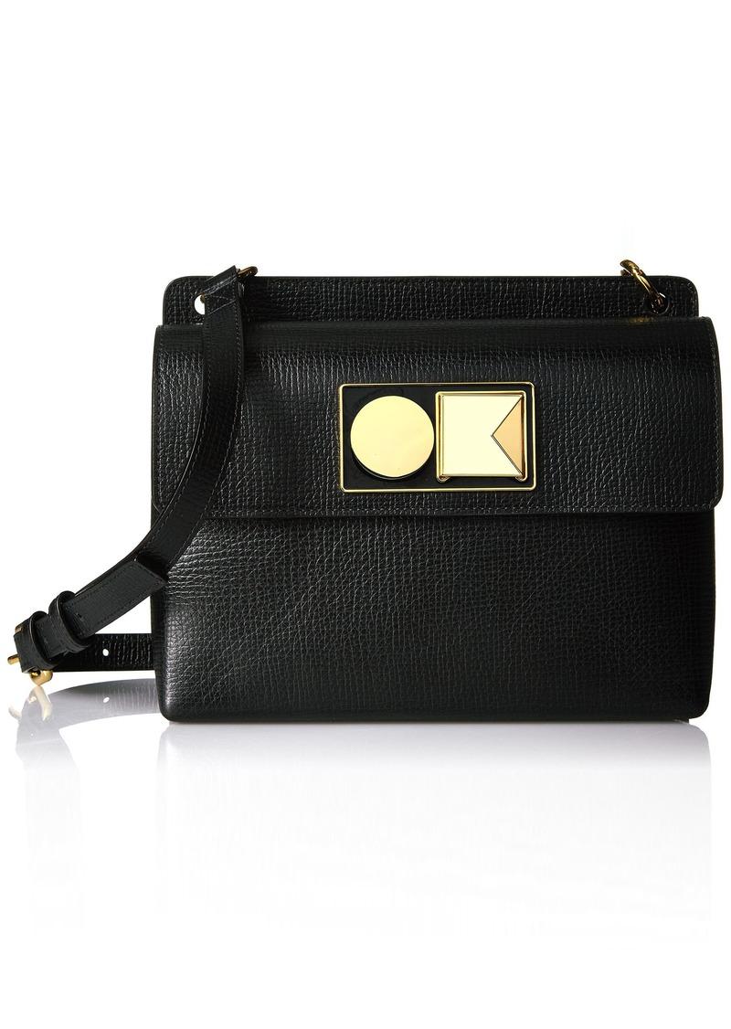 Orla Kiely Textured Leather Robin Bag black
